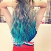 dying hair ends turquoise