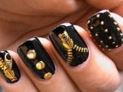 garage chic - biker studded nails