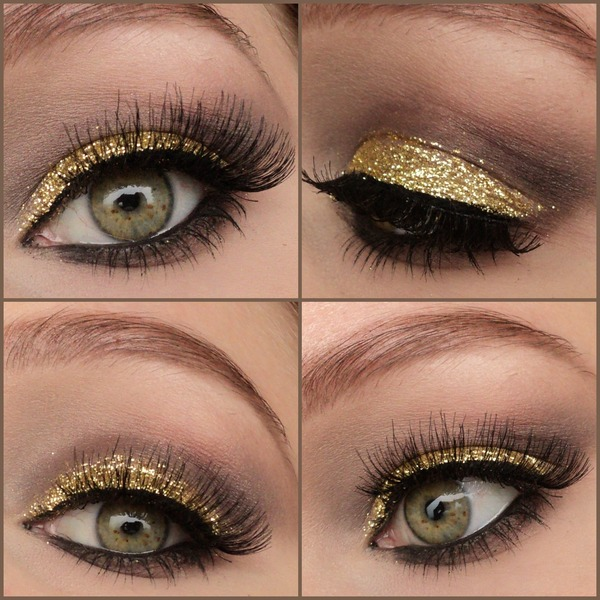 Golden Glitter Eyes Eline Fs Photo Beautylish
