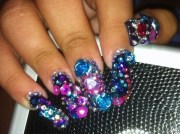 blinged nails ashley .'s