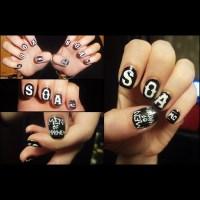 Sons Of Anarchy nail design. | Karin A.'s Photo | Beautylish