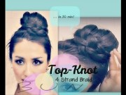 easy & unique topknot bun tutorial