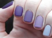 matte purple ombre nails samantha