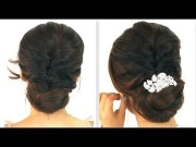 5min easy everyday party updo