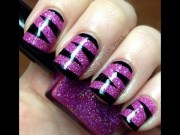 animal print nail art design video