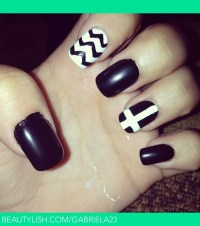 Black Nails. | Gabriela C.'s (gabriela23) Photo | Beautylish