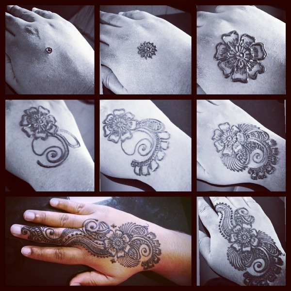 Step By Step Henna Divya Vs Photo Beautylish