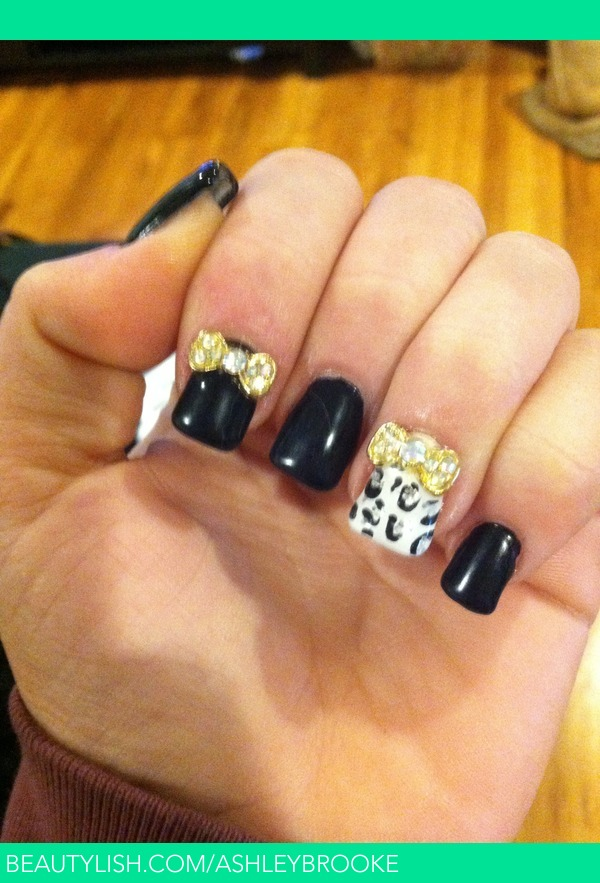 Bows and cheetah print nails  Ashley Ss Ashleybrooke Photo  Beautylish