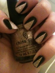 black & gold nail art paige .'s
