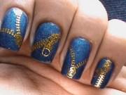 zip nail art design - polish