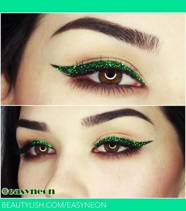 kitchen tweezers wilson cabinet hoosier glitter eyeliner makeup   diana c.'s (easyneon) photo ...