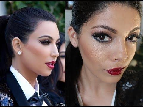 Kim Kardashian Christmas Card 2011 Makeup And Look For