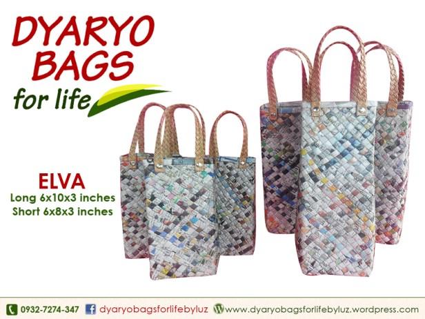 wine bag, newspaper bag, dyaryo bag, grocery bag, fashion bag, recycle bag - Dyaryo Bags for Life by Luzviminda Madriñan