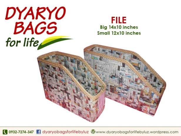 desk organizer, folder organizer, paper organizer, newspaper bag, dyaryo bag, grocery bag, fashion bag, recycle bag - Dyaryo Bags for Life by Luzviminda Madriñan