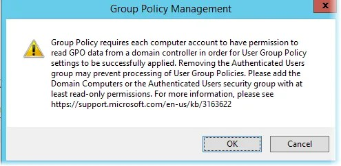 Limit Group Policies to specific OUs, users or computers