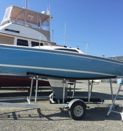 chesapeake yacht sales has a very excited customer this week his brand new 2017 catalina capri 22 fin keel has arrived from florida  [ 1024 x 768 Pixel ]