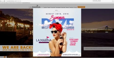 Concert poster on LaMarinaNYC.com website