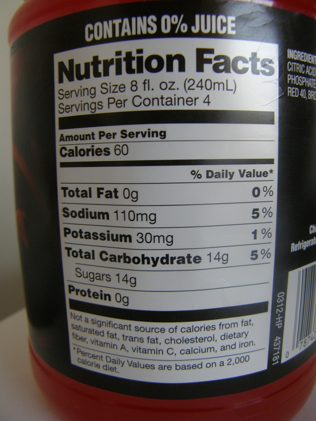 32 Oz Gatorade Nutrition Facts : gatorade, nutrition, facts, Food,, Additives