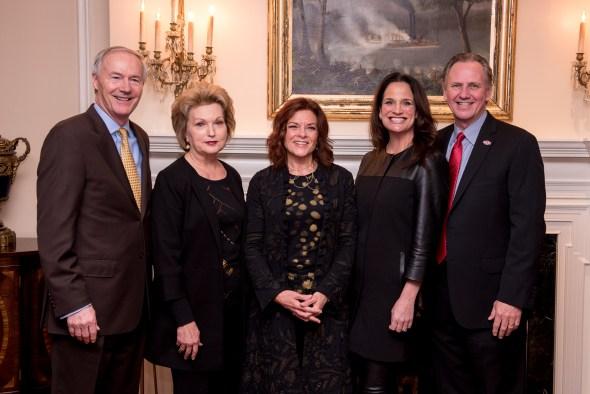 Arkansas Governor Asa Hutchinson, First Lady Susan Hutchinson, Rosanne Cash, Dr. Dee Dee Hudson, Dr. Tim Hudson