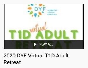 T1D Virtual Adult Retreat Playlist