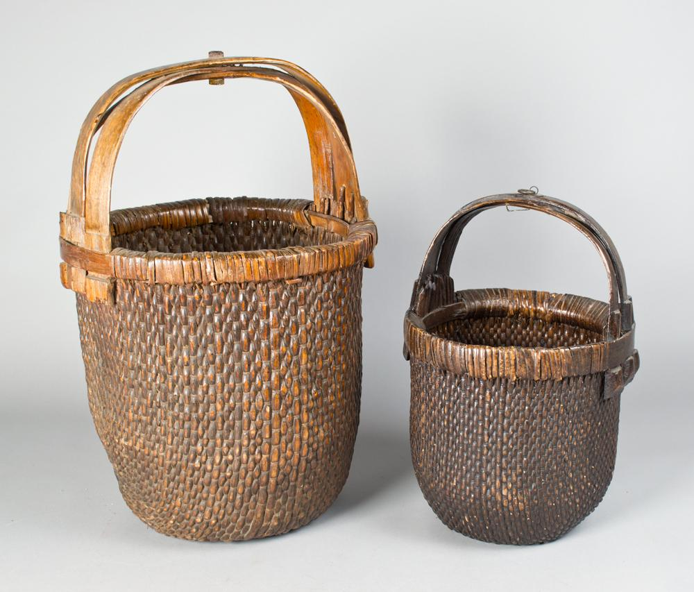 2 antique chinese willow