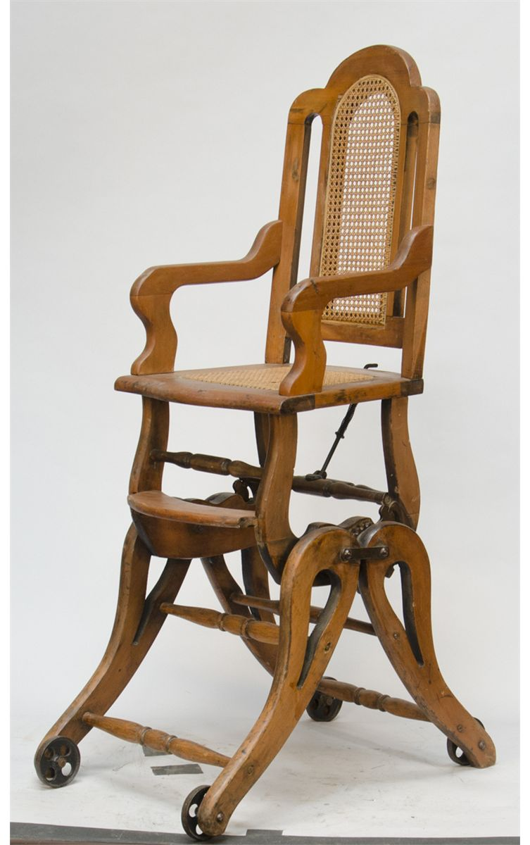 Wooden High Chairs For Babies Antique Wooden Combination Baby S High Chair Rocker