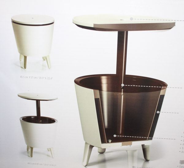 cool bar table cooler combo with drain