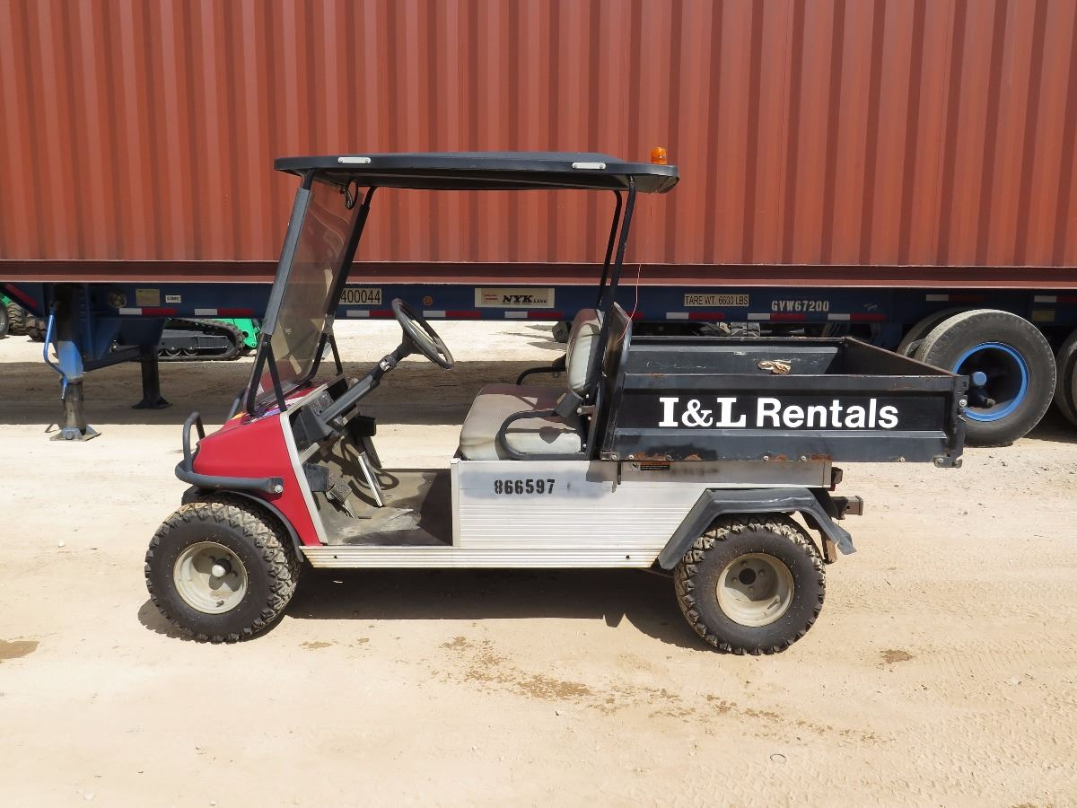 small resolution of video image 1 2007 club car xrt900 industrial utility gas golf cart manual dump bed