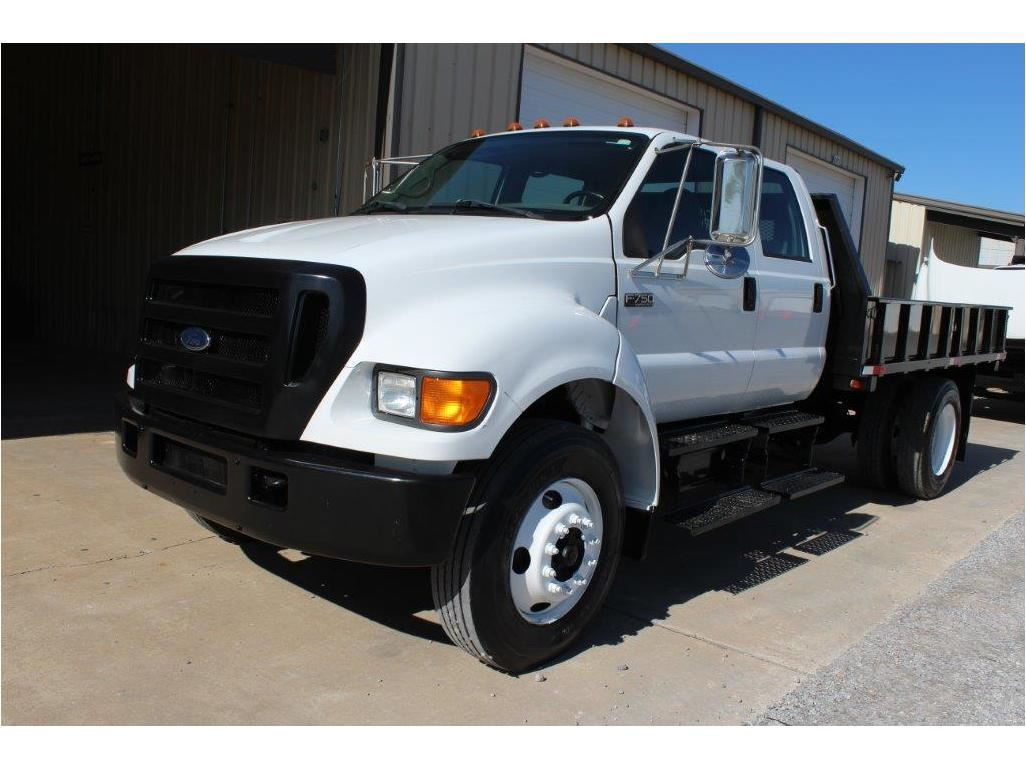 hight resolution of image 1 2005 ford f750 flatbed truck sn 3frnw75fx5v190708 crew cab