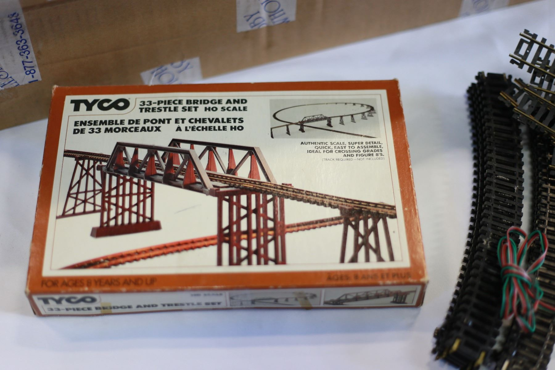 image 3 lot of ho scale train track and bridge  [ 1800 x 1200 Pixel ]