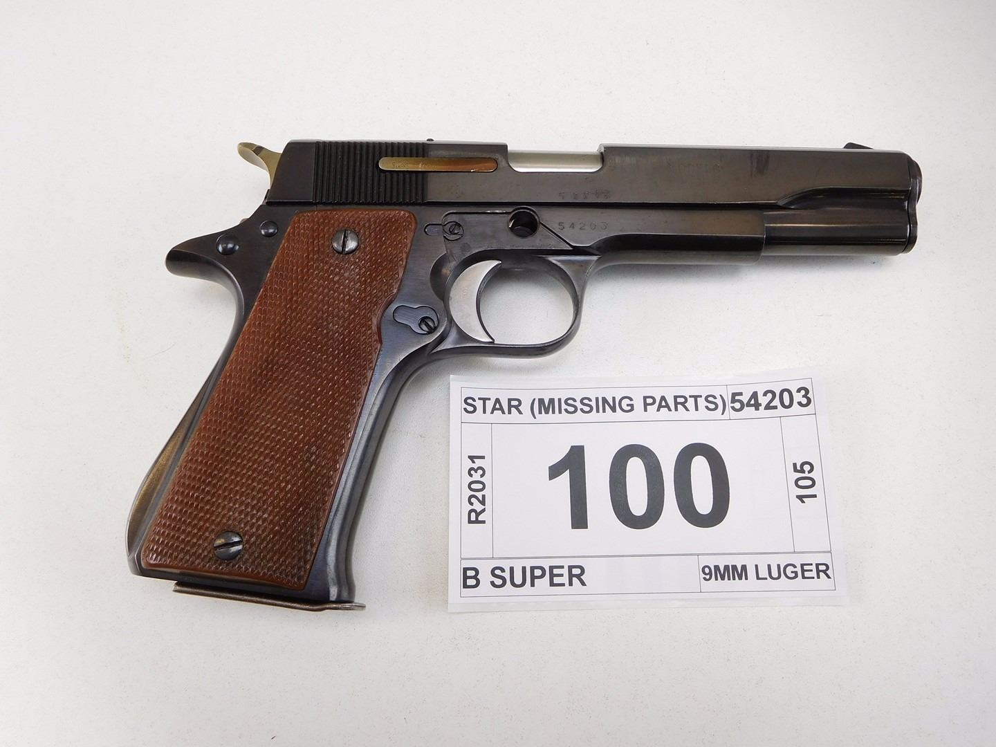 medium resolution of image 1 star model b super caliber 9mm luger