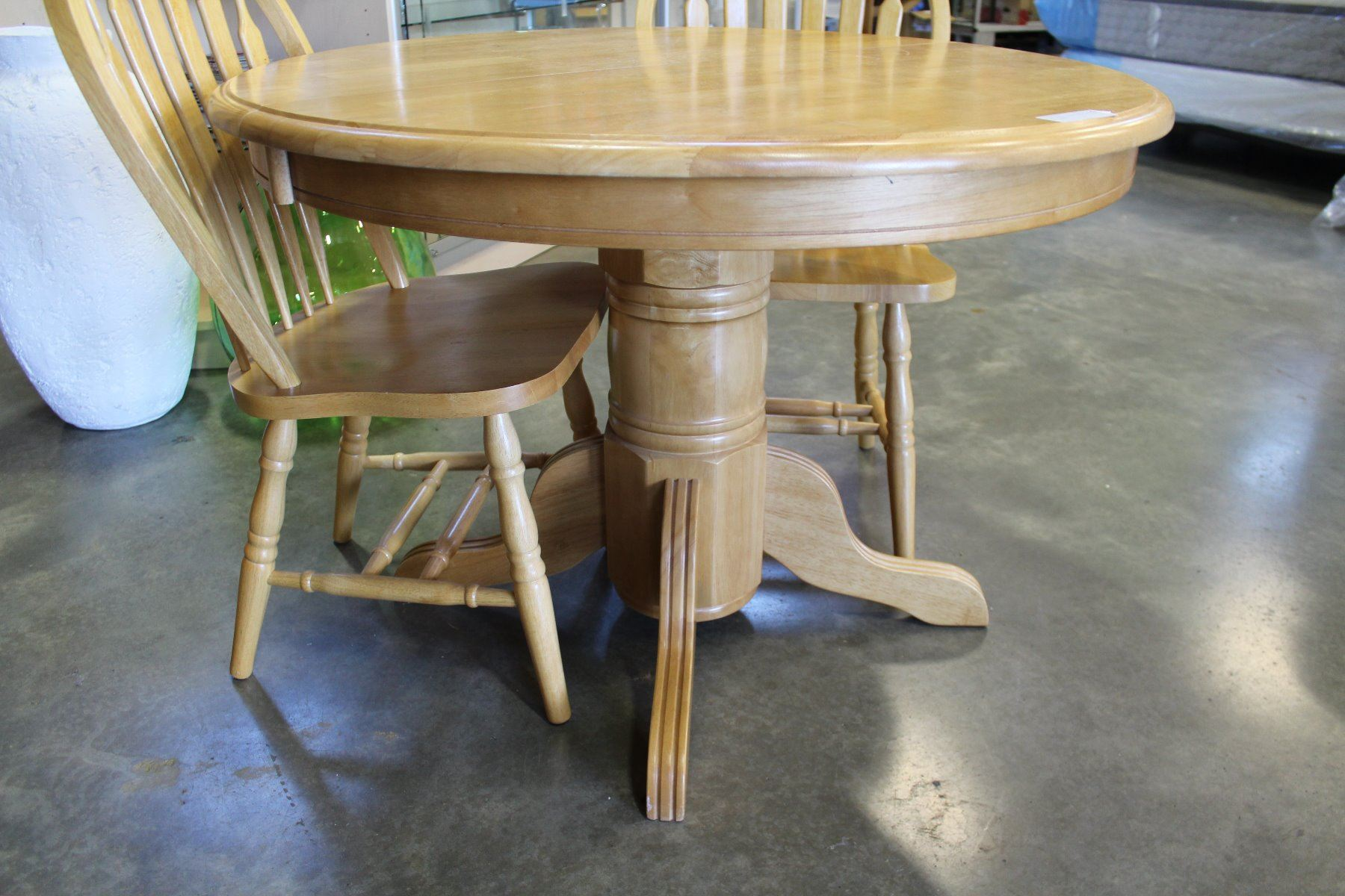 maple kitchen table mega system round dining with two chairs big valley auction image 2