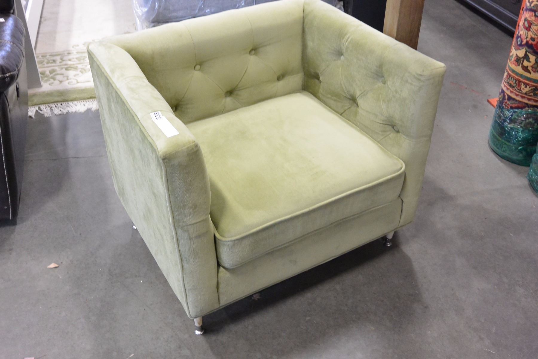 Sears Accent Chairs New Sears Home Tufted Modern Green Fabric Accent Chair Retail 399