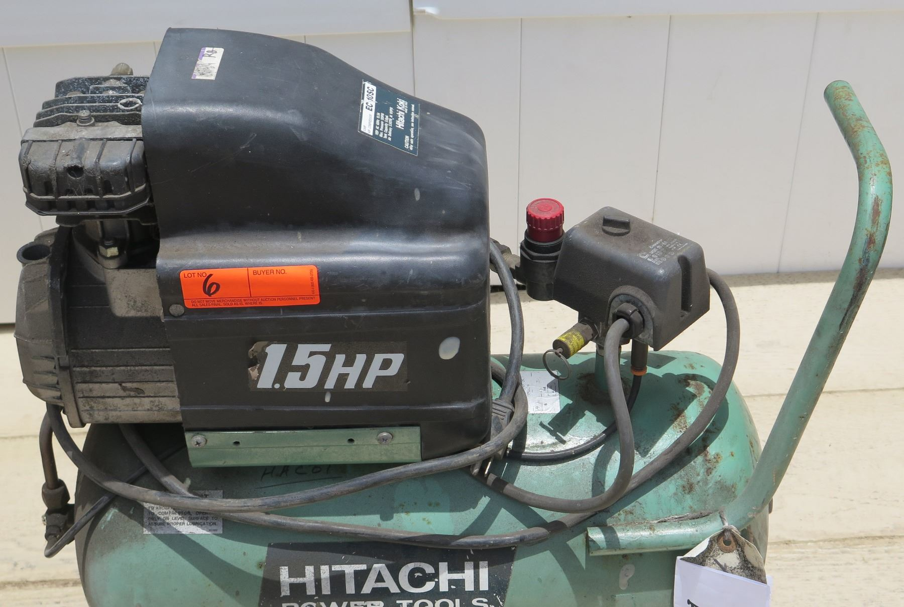 hight resolution of  image 2 tools hitachi koki ec 10sc and stanley bostitch cwc156 1 5 hp air