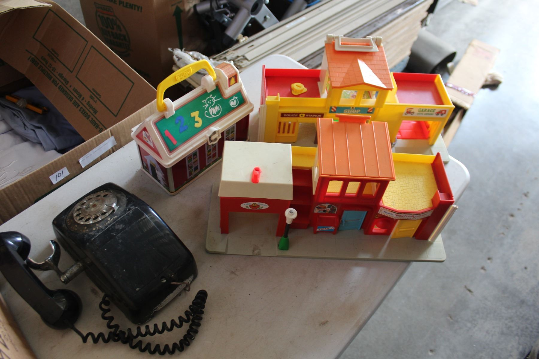 small resolution of image 1 vintage fisher price toys and rotary phone
