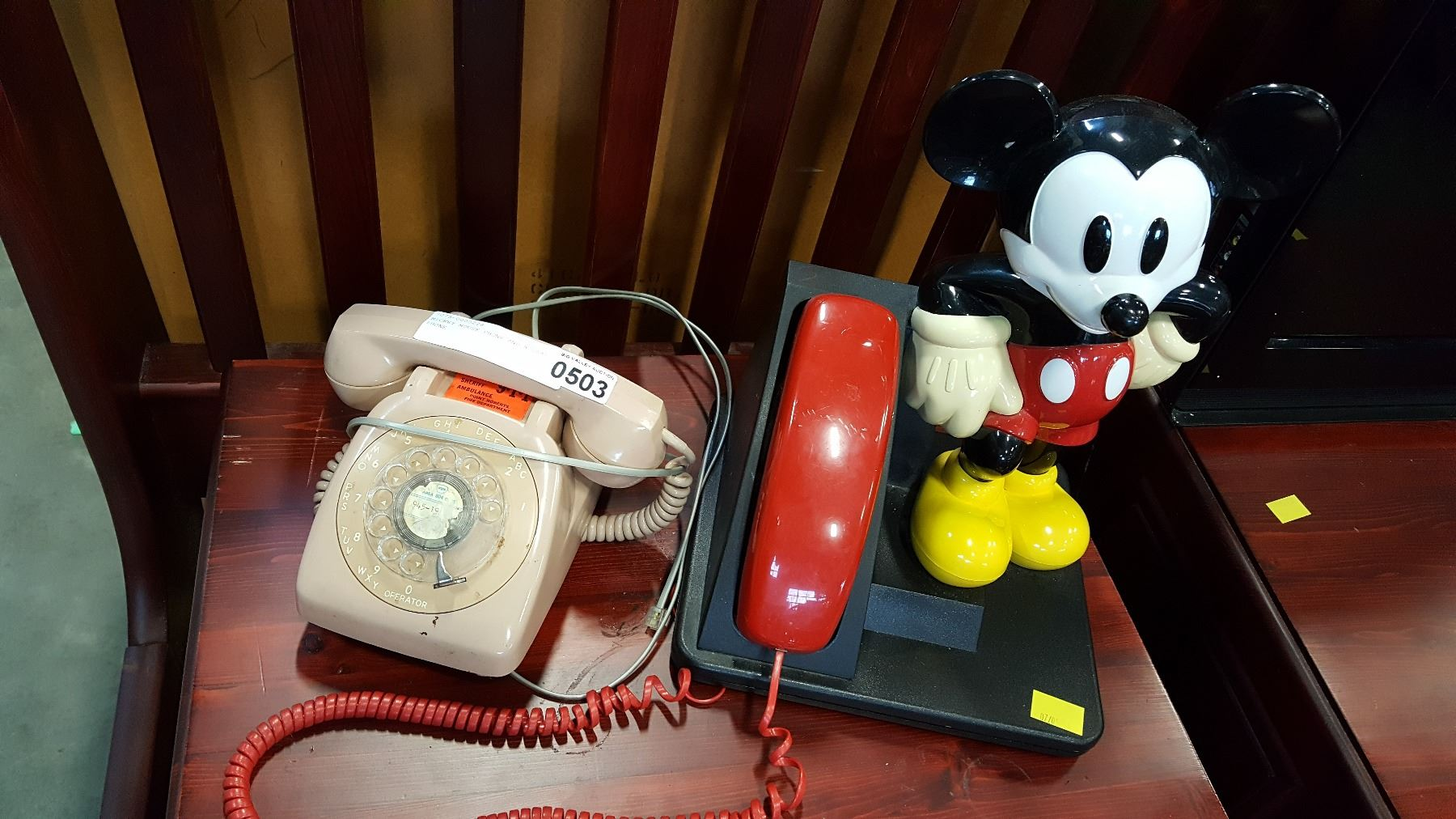 image 1 mickey mouse phone and rotary phone  [ 1800 x 1012 Pixel ]