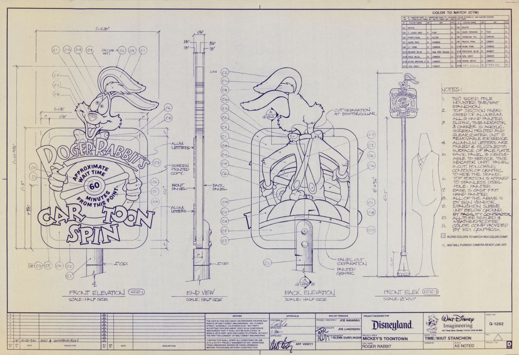 image 4 collection of 4 roger rabbit s car toon spin blueprints [ 1800 x 1230 Pixel ]