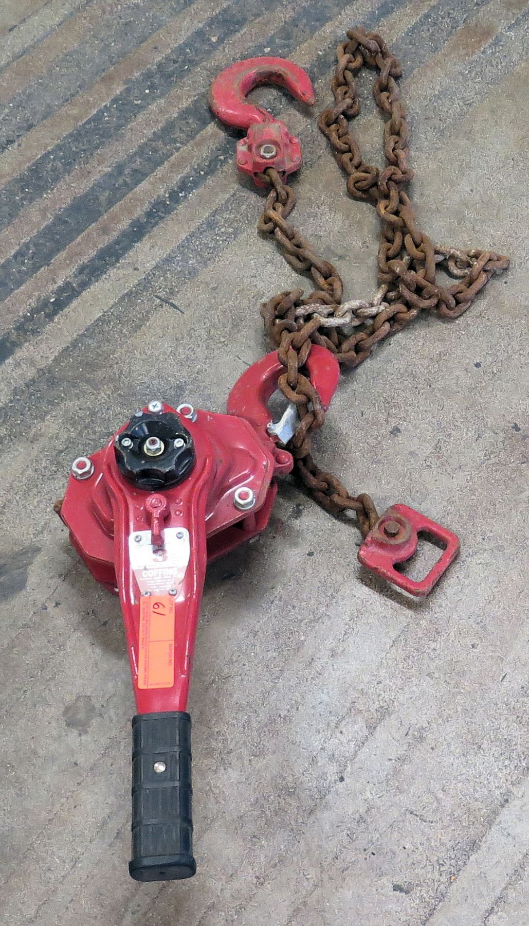 small resolution of image 1 coffing 3 ton chain hoist red