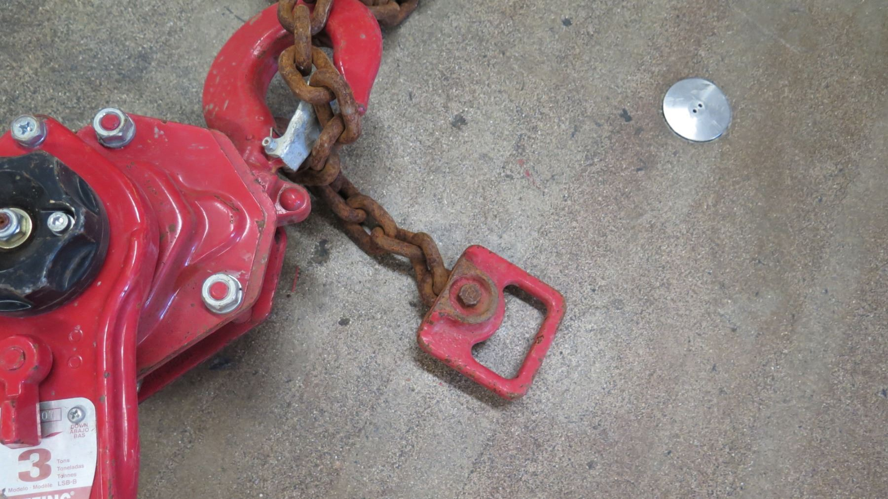 medium resolution of  image 3 coffing 3 ton chain hoist red