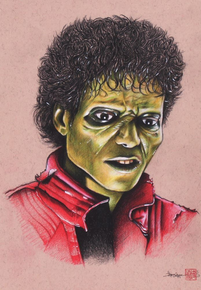 Michael Jackson Thriller Drawing : michael, jackson, thriller, drawing, Thang, Nguyen, Michael, Jackson,