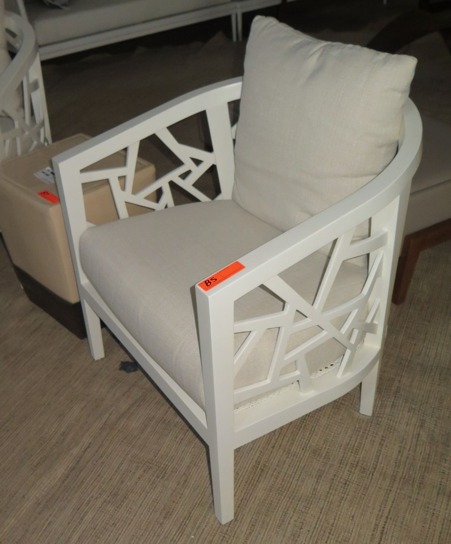 Crate And Barrel Rocking Chair White Crate Barrel Lounge Chair W Cut Out Frame White Linen