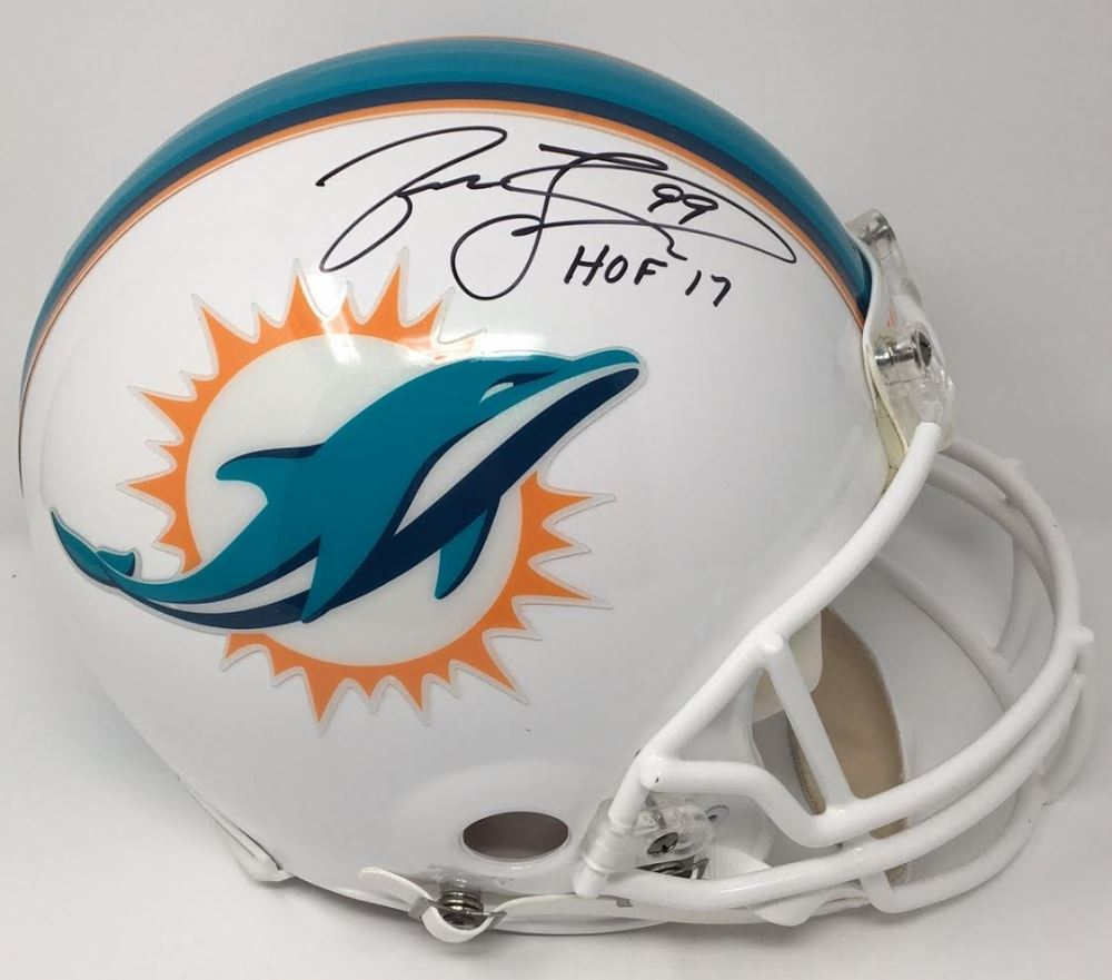 Jason Taylor Signed Le Dolphins Full-size Authentic -field Helmet Inscribed