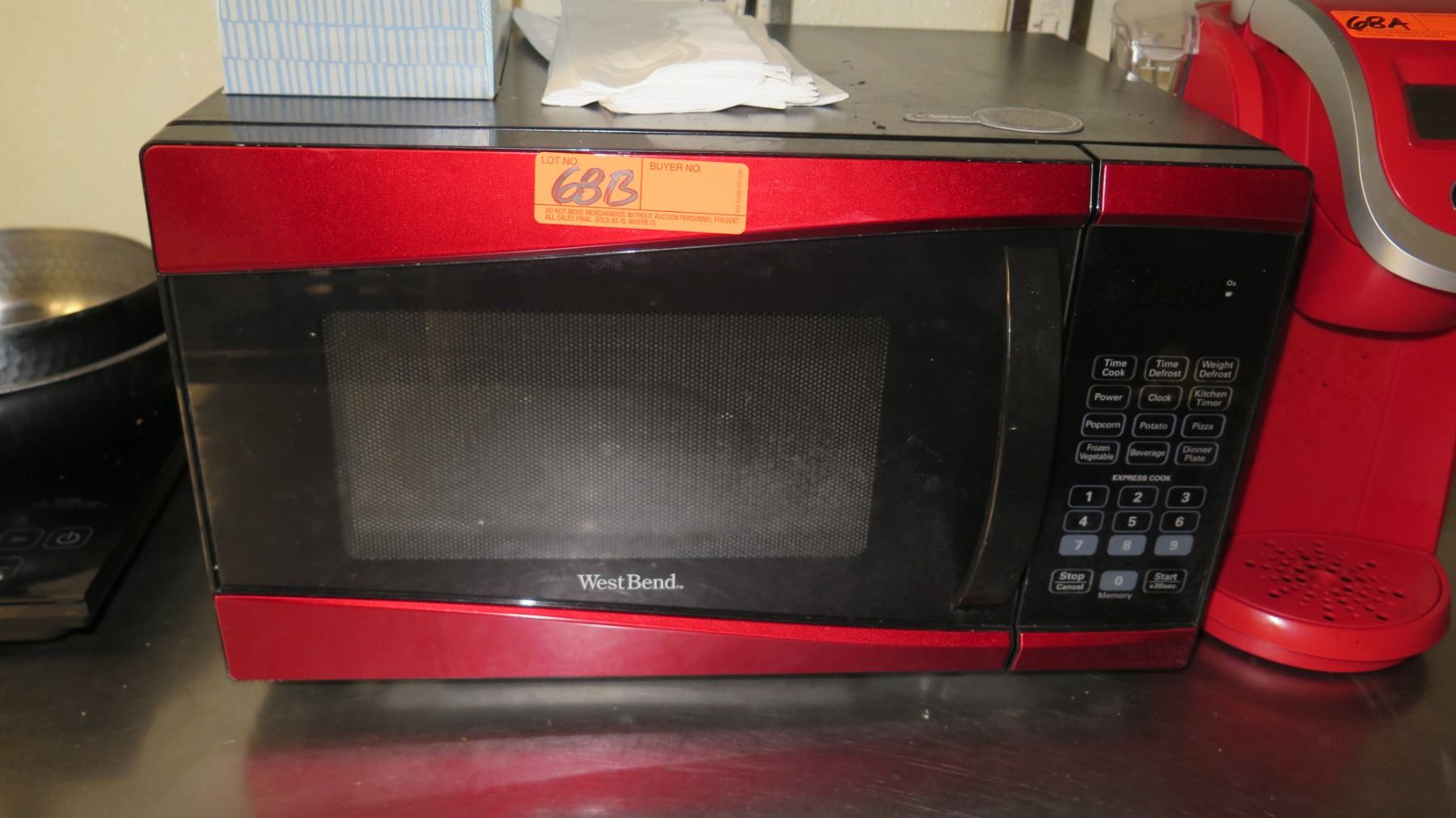 red west bend countertop microwave