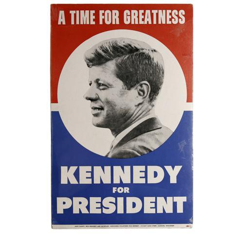 1960 john f kennedy campaign poster this red