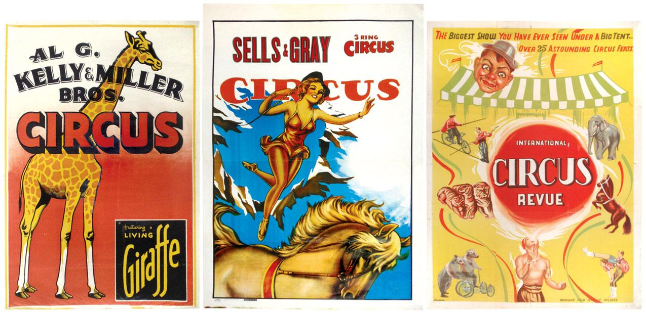 Circus Posters 3 Al G Kelly Miller Bros Featuring