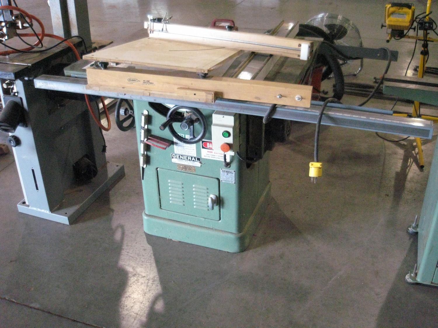 General Table Saw Model 350