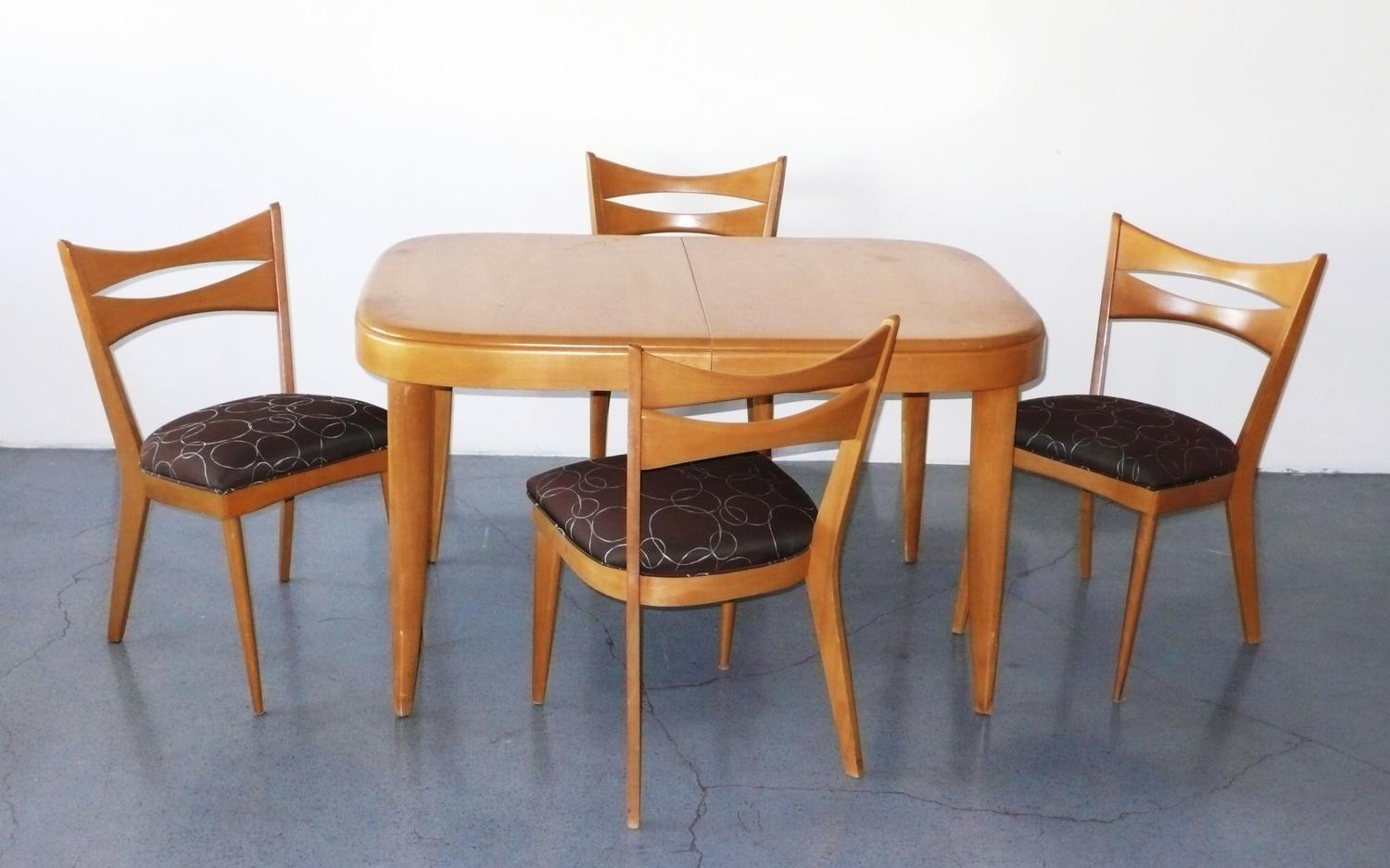 Heywood Wakefield Dining Chairs Heywood Wakefield Dining Set With 4 Chairs C 1950
