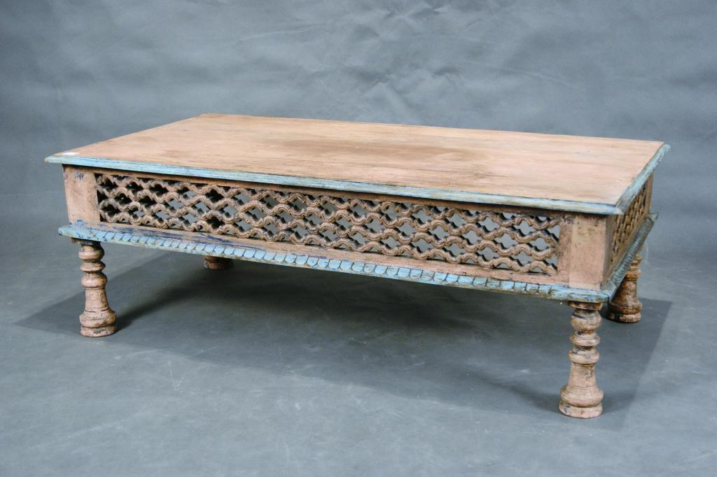 mexican carved coffee table with rustic