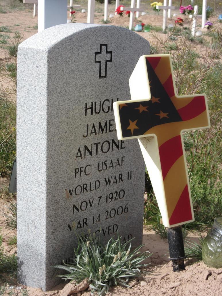Veteran grave Tohono O'odham Chuichu West Cemetery Casa Grande AZ