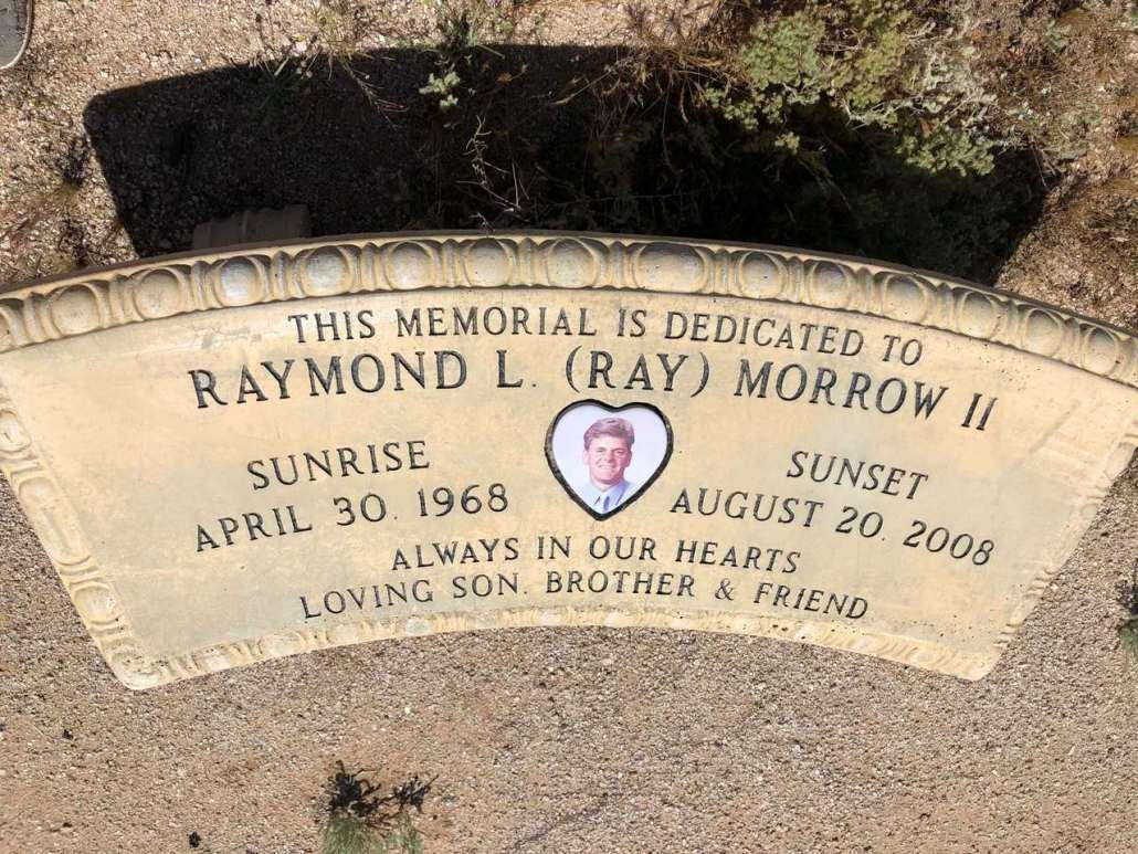 Roadside memorial for Ray Morrow Maricopa AZ